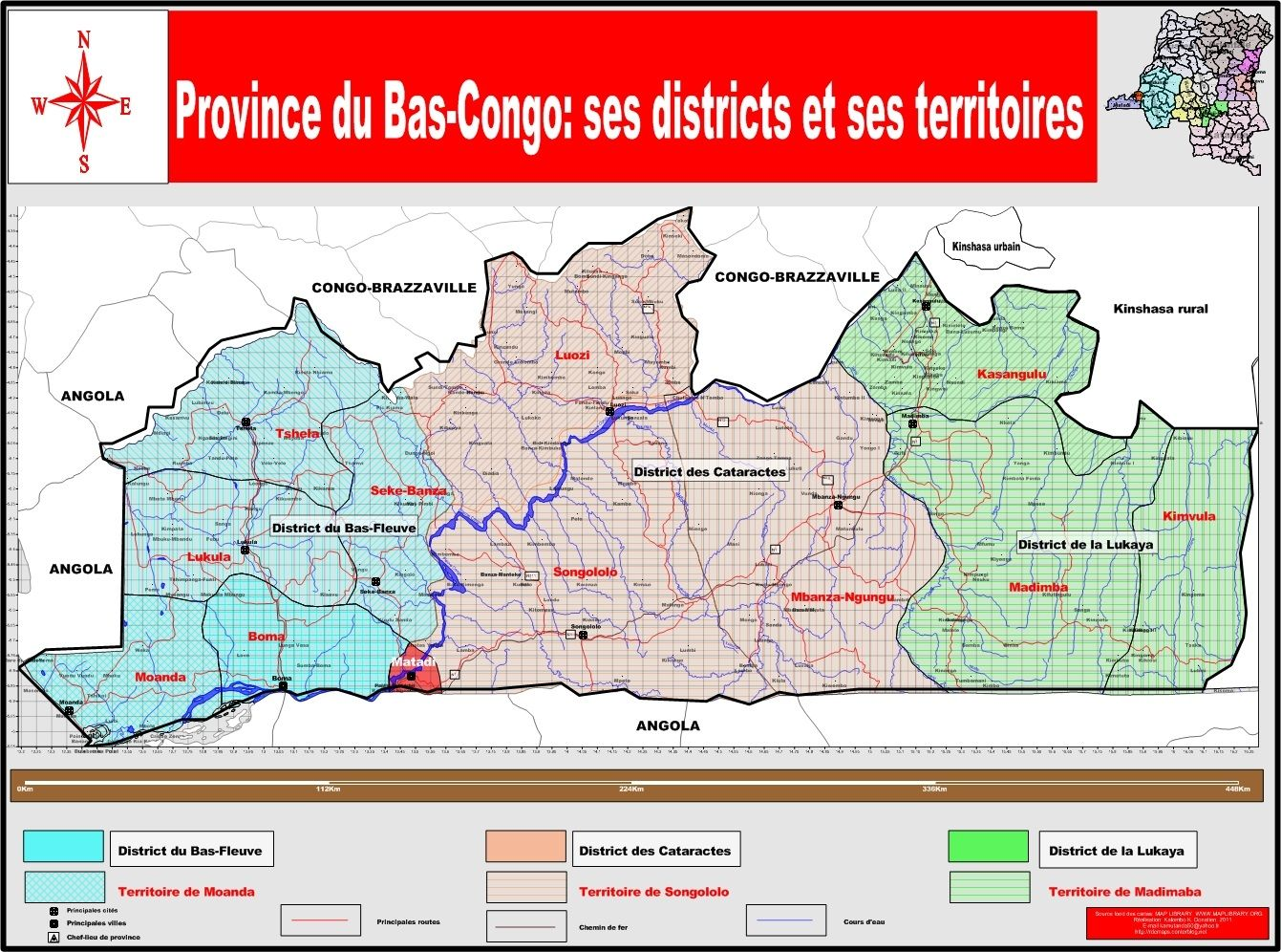 Carte geographique du congo rdc the best cart - Bureau de la coordination des affaires humanitaires ...
