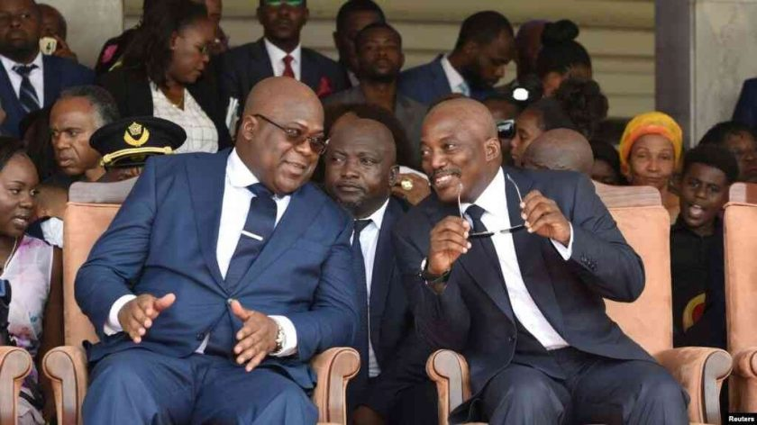 photo passation pouvoir kabila tshisekedi