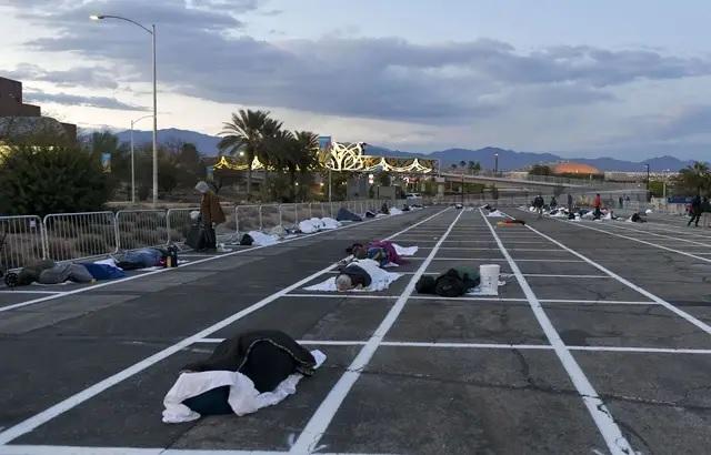des sans abris à Las Vegas