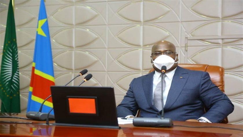 Félix Tshisekedi portant masque