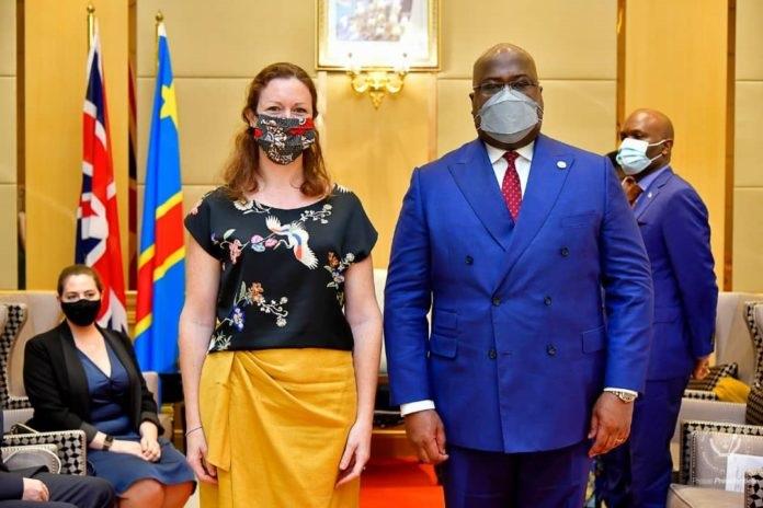 Emily Maltaman et Félix Tshisekedi