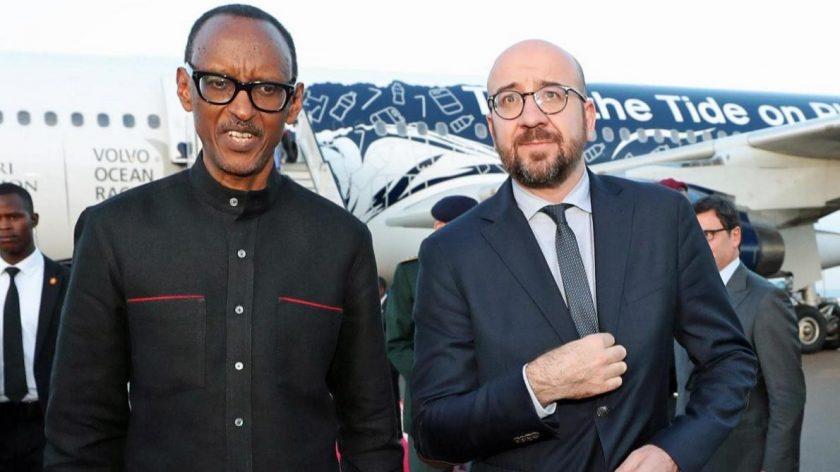 Kagame et Louis Michel