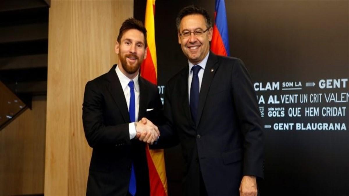lionel Messi et Bartomeu