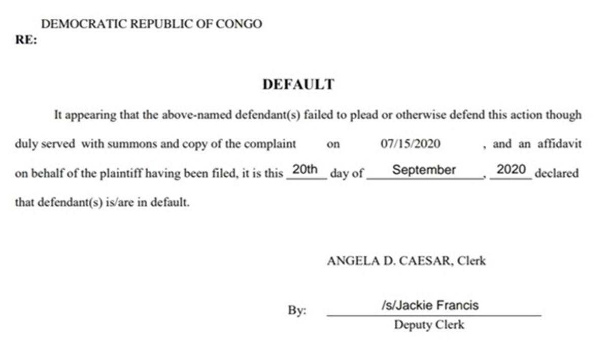 jugement contre la RDC