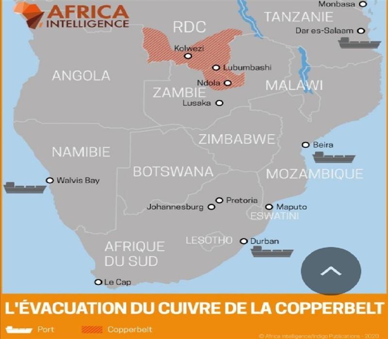 route cuivre rdc zambie