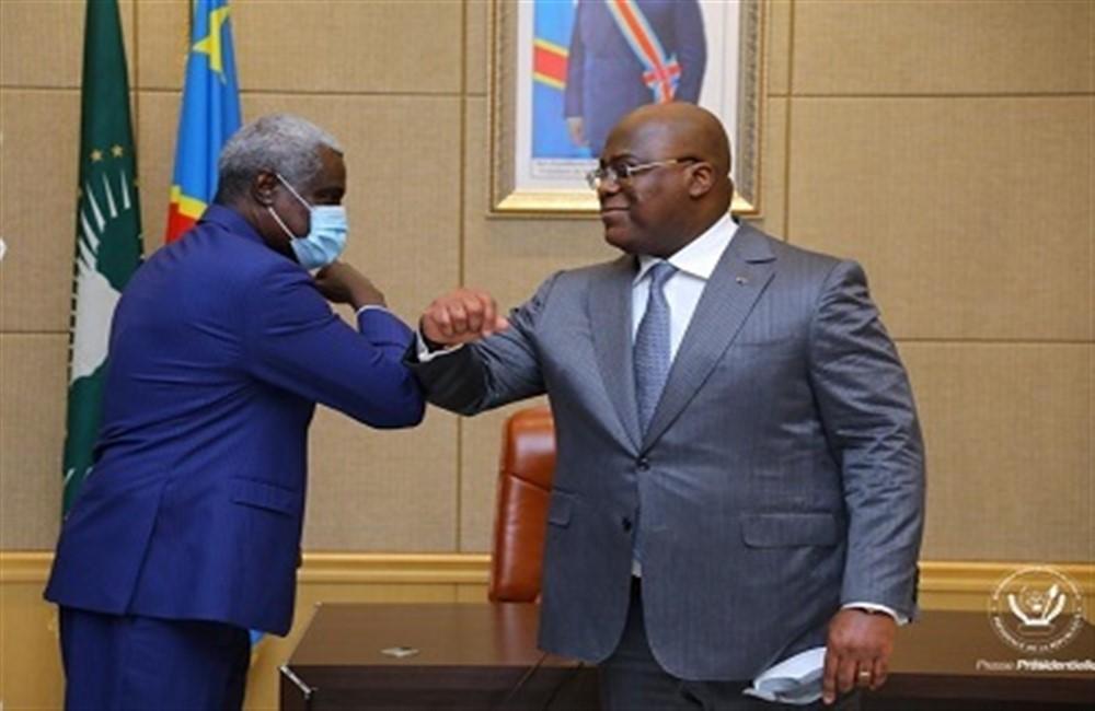 Moussa Faki et Tshisekedi